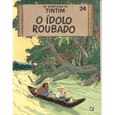 21696 Tintim 24 (1970) O Ídolo Roubado Editora Record