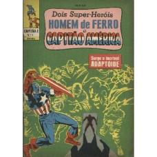 30737 Capitão Z 9 (1968) 3a Série Capitão América e Homem de Ferro Editora Ebal