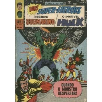 31544 Super X 23 (1969) 5a Série Príncipe Submarino e Hulk Editora Ebal